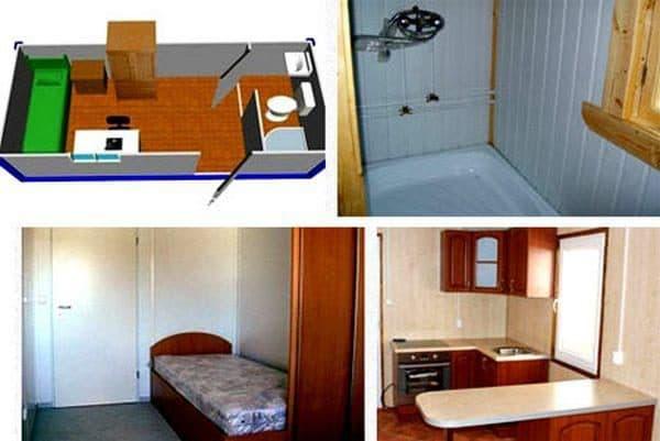 бытовки дачные двухкомнатные с туалетом и душем
