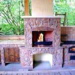 Печь-барбекю на свежем воздухе: летняя кухня в беседке