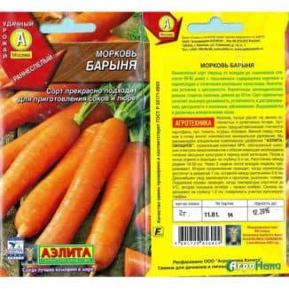 Раннеспелая-морковь-Барыня