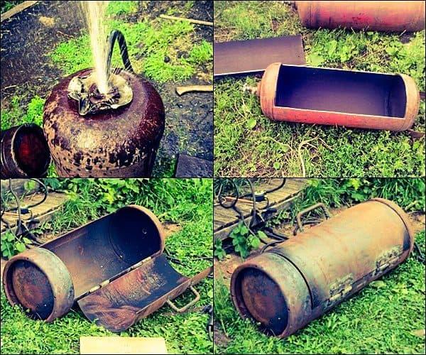 мангал из газового баллона